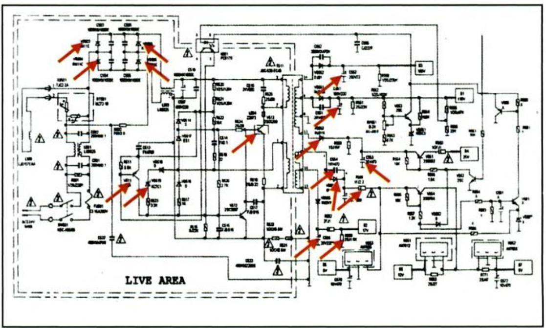 Mengenal blok rangkaian pada tv berwarna serta cara kerjanya catu daya catu daya skema ccuart Images